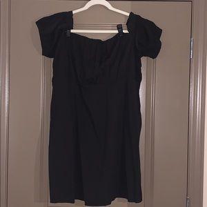 ASOS Black Off the Shoulder Dress